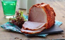 Κομμάτι καπνισμένου του χοιρινό κρέας ζαμπόν Στοκ Εικόνα