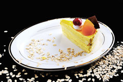 κομμάτι καρπού κέικ Στοκ φωτογραφία με δικαίωμα ελεύθερης χρήσης