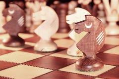 Κομμάτι σκακιού - ο ιππότης Στοκ εικόνα με δικαίωμα ελεύθερης χρήσης