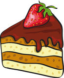 κομμάτι σοκολάτας κέικ Στοκ Φωτογραφίες