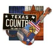 Κομμάτι τέχνης country μουσικής του Τέξας στοκ φωτογραφίες