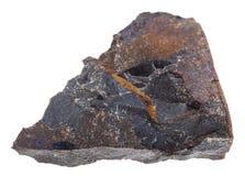 Κομμάτι της πέτρας βράχου λειωμένων μετάλλων αντίκτυπου tagamite Στοκ φωτογραφία με δικαίωμα ελεύθερης χρήσης