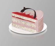 κομμάτι της φράουλας κέικ Στοκ εικόνα με δικαίωμα ελεύθερης χρήσης