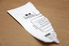 Κομμάτι της W9 μορφής Στοκ Φωτογραφίες