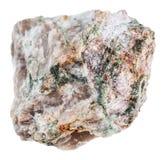 Κομμάτι του βράχου Delhayelite που απομονώνεται Στοκ εικόνα με δικαίωμα ελεύθερης χρήσης