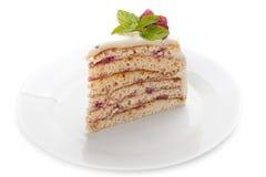 Κομμάτι του κέικ σε ένα πιάτο. στοκ φωτογραφίες με δικαίωμα ελεύθερης χρήσης
