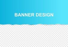 Κομμάτι του μπλε σχισμένου χρώμα χαρτί κλίσης με τις σχισμένες deckled άκρες και της σκιάς, διανυσματική απεικόνιση, αφηρημένο πρ απεικόνιση αποθεμάτων
