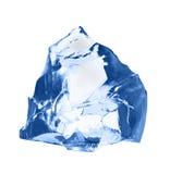 Κομμάτι του πάγου που απομονώνεται στο άσπρο υπόβαθρο Στοκ Φωτογραφία
