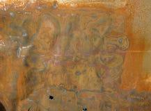 Κομμάτι του σκουριασμένου χάλυβα Στοκ εικόνα με δικαίωμα ελεύθερης χρήσης
