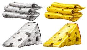 Κομμάτι του τυριού Στοκ Εικόνες