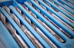 Κομμάτι τρυπανιών που τίθεται στο κιβώτιο Στοκ Φωτογραφία
