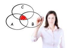 Κομμένο διάγραμμα κύκλων επιχειρηματιών σχέδιο. Στοκ φωτογραφία με δικαίωμα ελεύθερης χρήσης