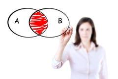 Κομμένο διάγραμμα κύκλων επιχειρηματιών σχέδιο. Στοκ φωτογραφίες με δικαίωμα ελεύθερης χρήσης
