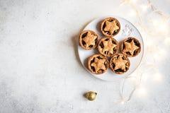 Κομματιάστε τις πίτες για τα Χριστούγεννα στοκ φωτογραφία