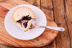 Κομματιάστε τις πίτες σε ένα άσπρο πιάτο Στοκ φωτογραφία με δικαίωμα ελεύθερης χρήσης