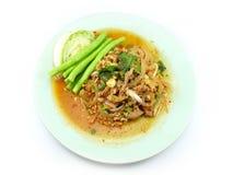 κομματιασμένη κρέας σαλάτα πικάντικος Ταϊλανδός Στοκ φωτογραφία με δικαίωμα ελεύθερης χρήσης