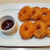 Κομματιασμένο σχάρα doughnut γαρίδων Στοκ Εικόνα