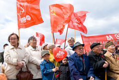 κομμουνιστική επίδειξη στοκ φωτογραφίες