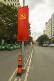 Κομμουνιστική σημαία κομμάτων του Βιετνάμ Στοκ φωτογραφία με δικαίωμα ελεύθερης χρήσης