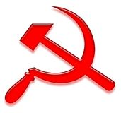 κομμουνιστικό σημάδι Στοκ Εικόνα
