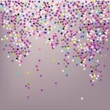 Κομφετί, εορτασμός του νέου έτους - διανυσματικό υπόβαθρο ελεύθερη απεικόνιση δικαιώματος