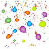 Κομφετί με τα μπαλόνια Στοκ φωτογραφία με δικαίωμα ελεύθερης χρήσης