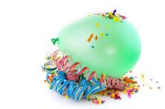 κομφετί μπαλονιών πράσινο Στοκ εικόνες με δικαίωμα ελεύθερης χρήσης