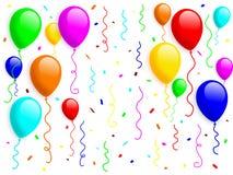κομφετί 2 μπαλονιών Στοκ Φωτογραφίες