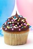 κομφετί cupcake Στοκ φωτογραφία με δικαίωμα ελεύθερης χρήσης