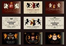 Κομψά εκλεκτής ποιότητας σχέδια που τίθενται για τα λογότυπα πολυτέλειας, εστιατόριο, επιλογές, Στοκ φωτογραφίες με δικαίωμα ελεύθερης χρήσης