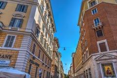 Κομψά κτήρια σε Borgo Angelico Στοκ φωτογραφία με δικαίωμα ελεύθερης χρήσης