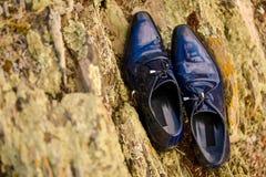 Κομψά παπούτσια μαύρων Στοκ Εικόνα