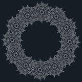 Κομψά περίκομψα floral πρότυπα σχεδίου Διανυσματική απεικόνιση πλαισίων και μονογραμμάτων Lineart Στοκ Φωτογραφίες