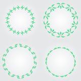 Κομψά περίκομψα floral πρότυπα σχεδίου Διανυσματική απεικόνιση πλαισίων και μονογραμμάτων Lineart Στοκ φωτογραφίες με δικαίωμα ελεύθερης χρήσης