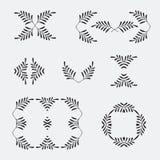 Κομψά περίκομψα floral πρότυπα σχεδίου Διανυσματική απεικόνιση πλαισίων και μονογραμμάτων Lineart Περίκομψοι πλαίσιο και κύλινδρο Στοκ φωτογραφία με δικαίωμα ελεύθερης χρήσης