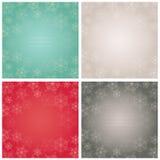 Κομψά υπόβαθρα με snowflakes. Διανυσματική απεικόνιση. Στοκ εικόνες με δικαίωμα ελεύθερης χρήσης