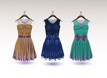 Κομψά φορέματα ελεύθερη απεικόνιση δικαιώματος