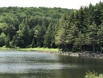 Κομψή λίμνη εξογκωμάτων στη δυτική Βιρτζίνια Στοκ εικόνα με δικαίωμα ελεύθερης χρήσης