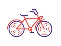 Κομψή αναδρομική ρόδινη bycicle απεικόνιση ποδηλάτων εικονιδίων διανυσματική στο καθιερώνον τη μόδα γραμμικό ύφος ελεύθερη απεικόνιση δικαιώματος