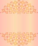 Κομψή ανασκόπηση με τη διακόσμηση δαντελλών και θέση για το κείμενο Floral στοιχεία, περίκομψη ανασκόπηση Ινδικά μοτίβα επίσης co απεικόνιση αποθεμάτων