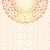 Κομψή ανασκόπηση με τη διακόσμηση δαντελλών και θέση για το κείμενο floral διακόσμηση Ισλάμ, Αραβικά, Ινδός, μοτίβα διανυσματική απεικόνιση
