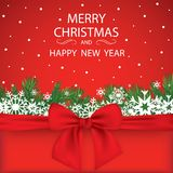 Κομψή ανασκόπηση Χριστουγέννων με snowflakes και θέση για το κείμενο επίσης corel σύρετε το διάνυσμα απεικόνισης απεικόνιση αποθεμάτων