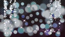Κομψή ανασκόπηση Χριστουγέννων με snowflakes και θέση για το κείμενο απεικόνιση αποθεμάτων