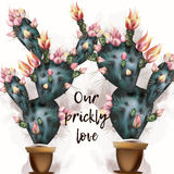 Κομψή απεικόνιση με τα ροδαλά λουλούδια αγάπη αέρα Στοκ Εικόνες