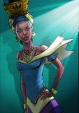 Κομψή αφρικανική γυναίκα ελεύθερη απεικόνιση δικαιώματος