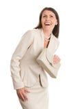 κομψή γελώντας ώριμη γυναί&ka στοκ εικόνες