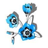 Κομψή διανυσματική δέσμη των λουλουδιών bluebell ελεύθερη απεικόνιση δικαιώματος