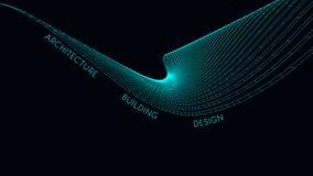 Κομψή επαγγελματική κάρτα για έναν αρχιτέκτονα αφηρημένη διανυσματική απεικόνιση διανυσματική απεικόνιση