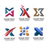 Κομψή επιστολή Χ διάνυσμα έννοιας λογότυπων Στοκ φωτογραφία με δικαίωμα ελεύθερης χρήσης