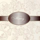 Κομψή κάρτα γαμήλιας πρόσκλησης στο εκλεκτής ποιότητας ύφος Στοκ Φωτογραφίες